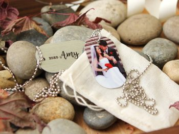 Custom Photo Dog Tag Necklace Personalized Key Chain Engraved