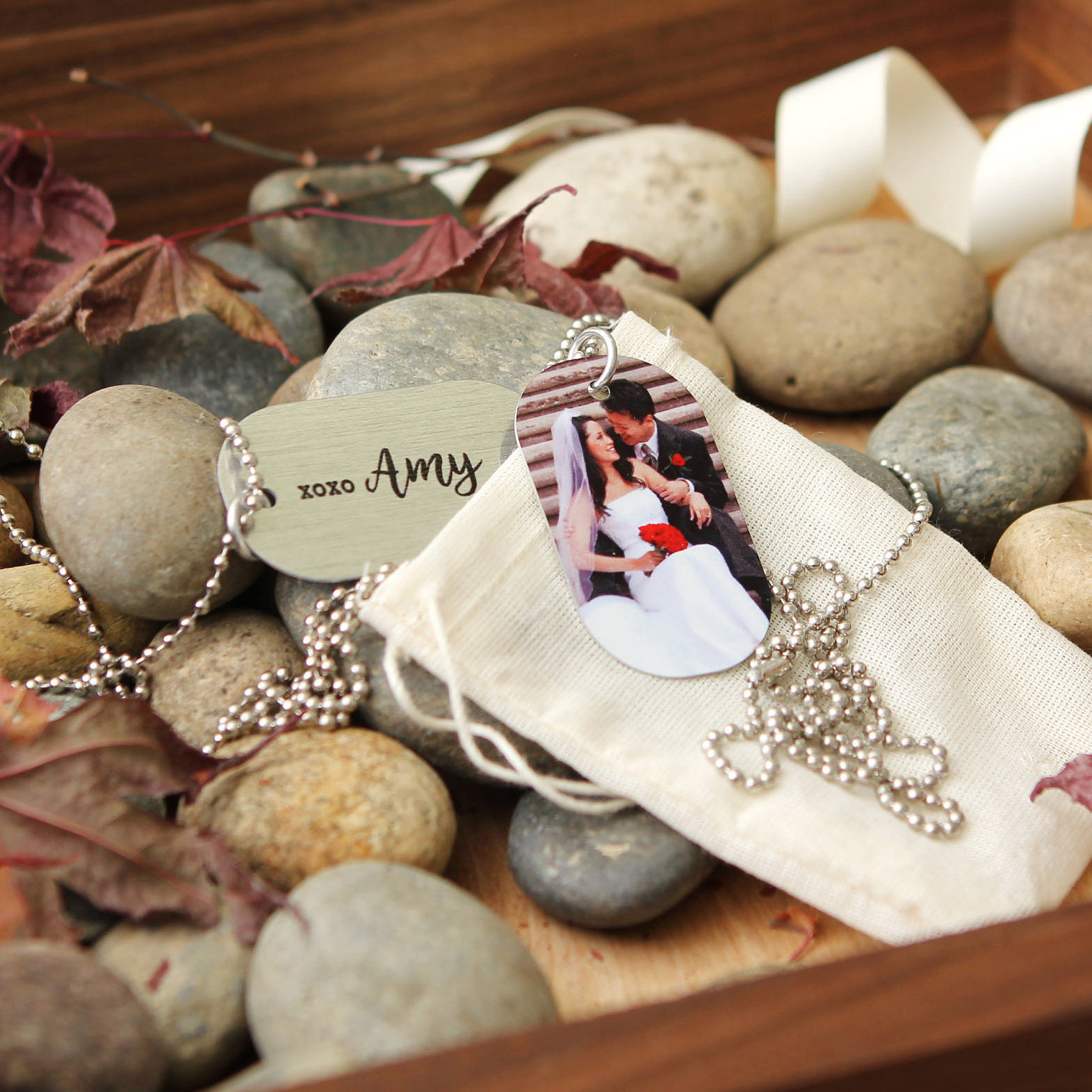 Photo Dog Tag Necklace Personalized Key Chain