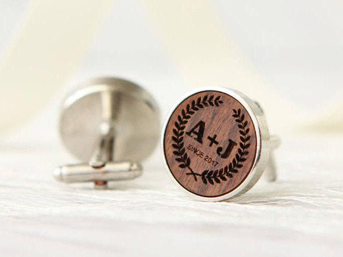 Engraved Cufflinks – Custom Monogram Cuff links