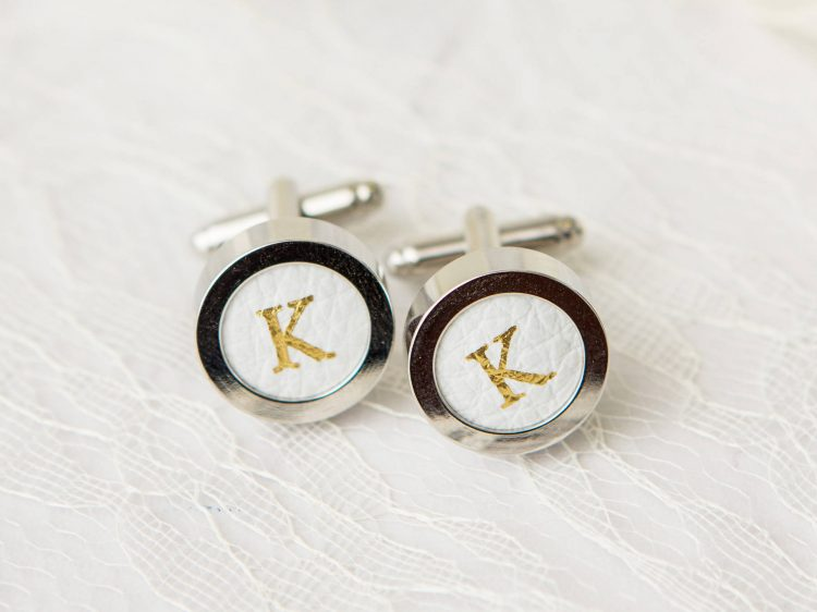 Personalized Cufflinks – Silver & Gold Stamped Cufflinks