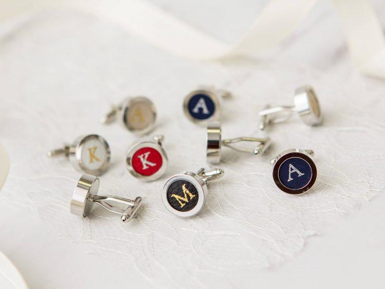 Personalized Cufflinks – Silver & Gold Stamped Cufflinks