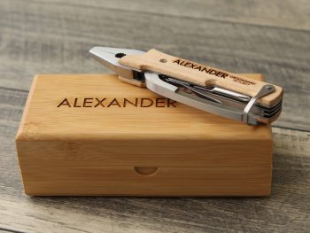 Personalized Tool Engraved Pocket Knife Pliers Gift For Him Wood Anniversary Groomsmen