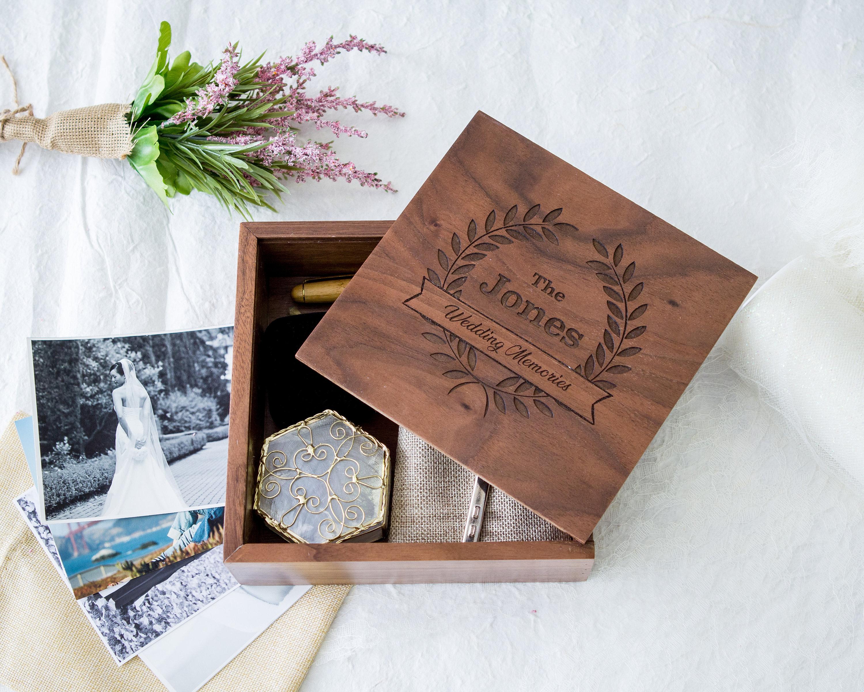 Square Wedding Memory Box 6 215 6 Or 7 215 7 Muujee