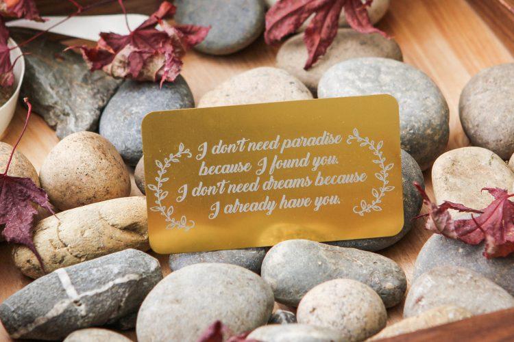 Engraved Metal Wallet Card