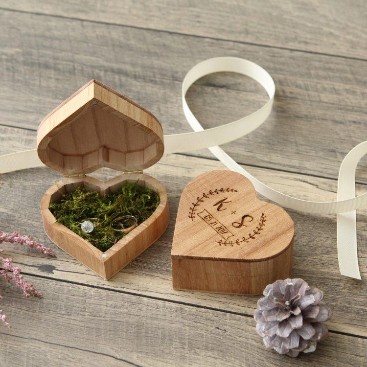 Heart Wedding Ring Box