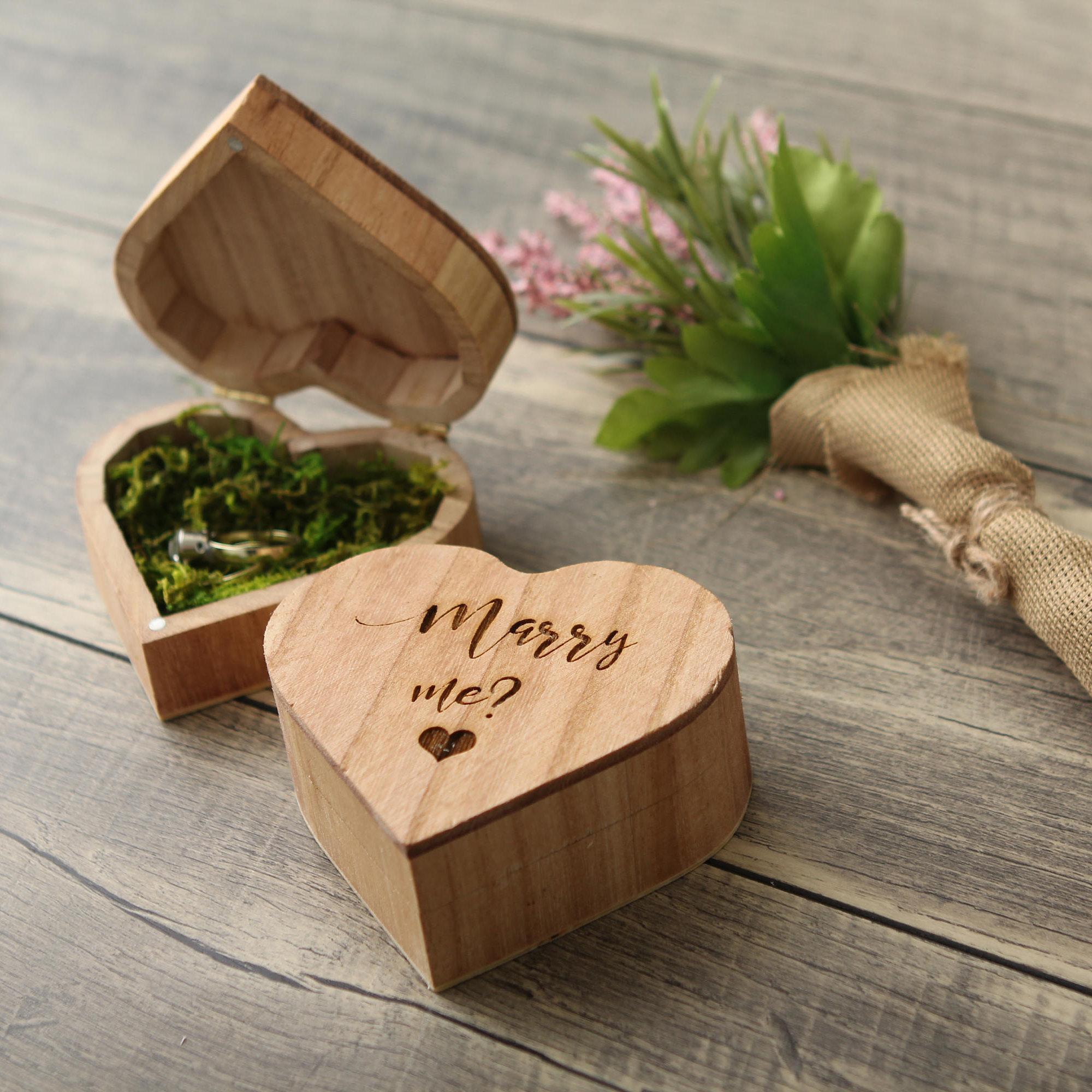 Wedding Ring Box.Heart Wedding Ring Box