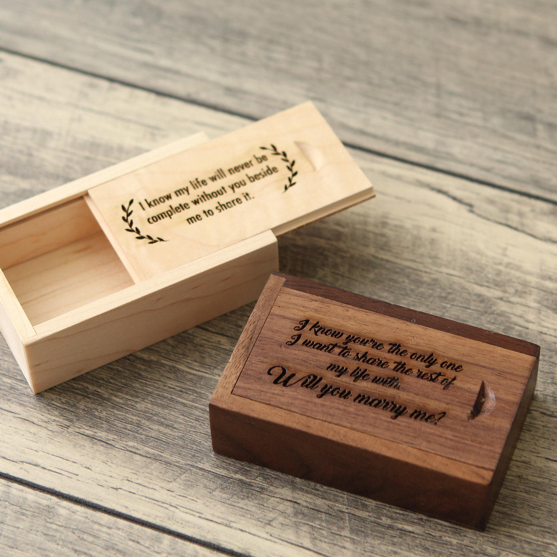 Maple Wood Box- Custom Engraving Included