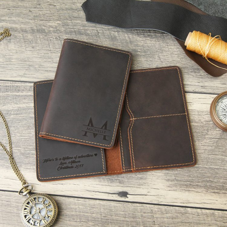 Engraved Passport Cover
