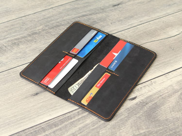 Personalized Long Leather Wallet