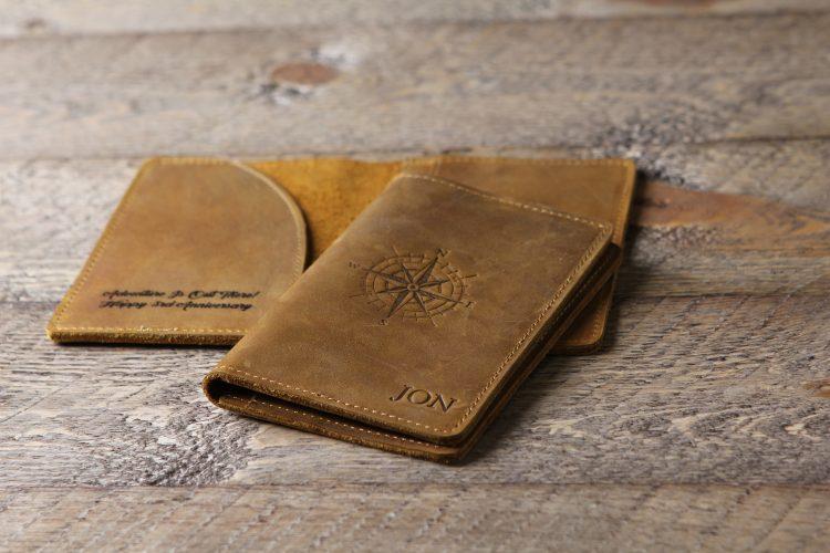 Stamped Passport Cover Holder