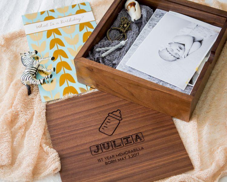 Square Baby Memory Box – 6×6 or 7×7