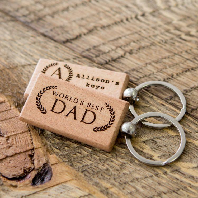 Wood Key Chain